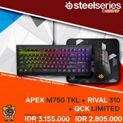 SteelSeries Bundle Apex M750 TKL + Rival 310 + QcK Limited
