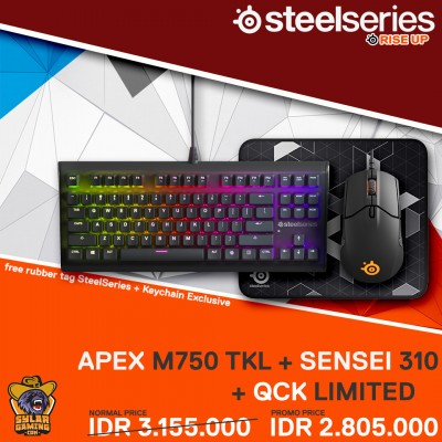 SteelSeries Bundle Apex M750 TKL + Sensei 310 + QcK Limited